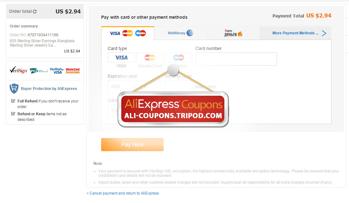How to use select coupons on aliexpress